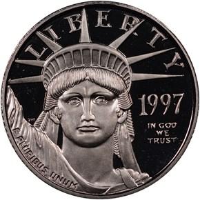 1997 W EAGLE P$10 PF obverse