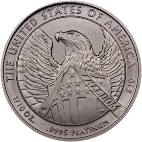 2007 W EAGLE BURNISHED PLATINUM EAGLE P$10 MS reverse