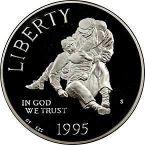 1995 S CIVIL WAR S$1 PF obverse