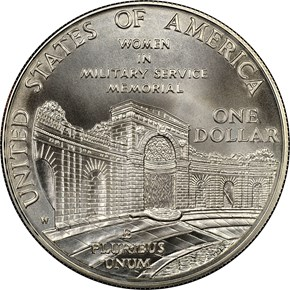 1994 W WOMEN VETERANS S$1 MS reverse
