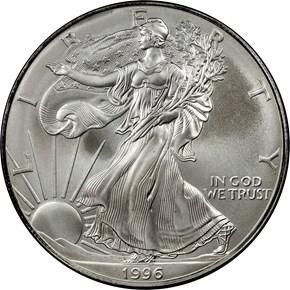 1996 EAGLE S$1 MS obverse