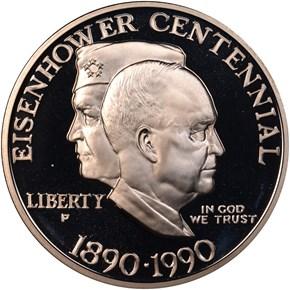 1990 P EISENHOWER S$1 PF obverse