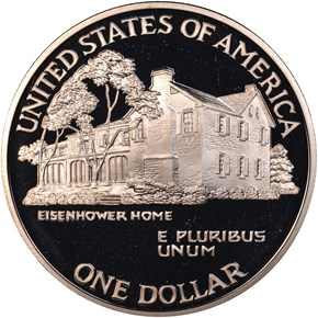 1990 P EISENHOWER S$1 PF reverse
