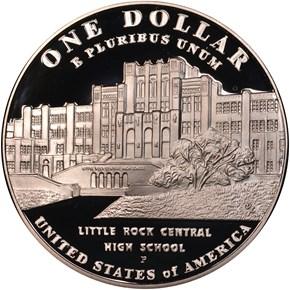 2007P LITTLE ROCK SCHOOL DESEGREGATION S$1 PF reverse