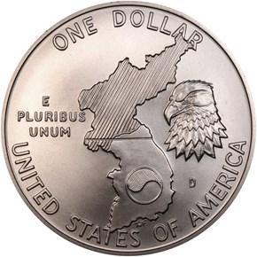 1991 D KOREAN WAR S$1 MS reverse