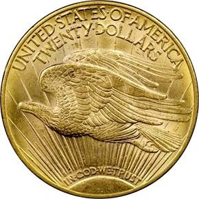 1913 D $20 MS reverse