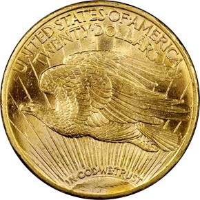 1914 S $20 MS reverse