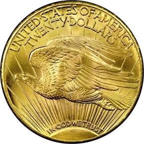 1928 $20 MS reverse