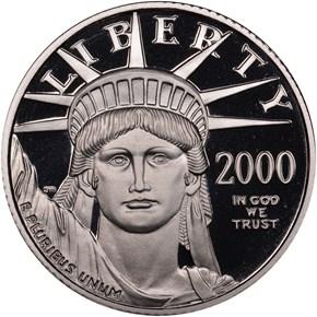 2000 W EAGLE P$25 PF obverse