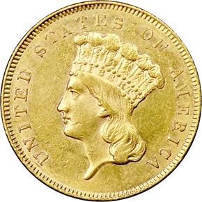 1855 $3 MS obverse