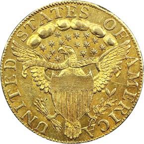 1797/5 LARGE EAGLE 15 STARS OBV BD-7 $5 MS reverse