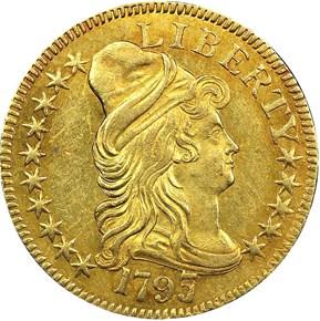 1797/5 LARGE EAGLE 15 STARS OBV BD-7 $5 MS obverse
