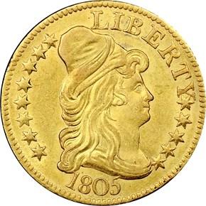 1805 $5 MS obverse