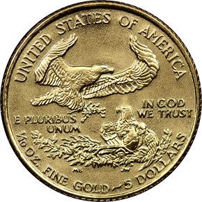 1992 EAGLE G$5 MS reverse