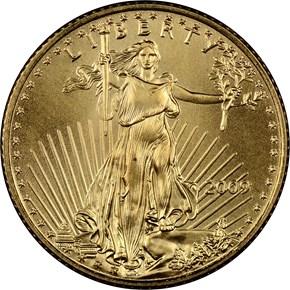 2009 EAGLE G$5 MS obverse