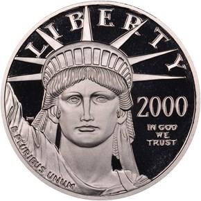 2000 W EAGLE P$50 PF obverse