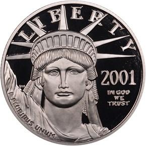2001 W EAGLE P$50 PF obverse