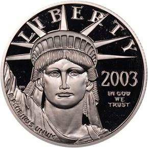 2003 W EAGLE P$50 PF obverse