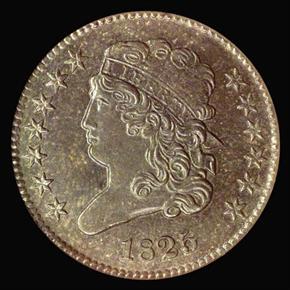 1825 1/2C MS obverse