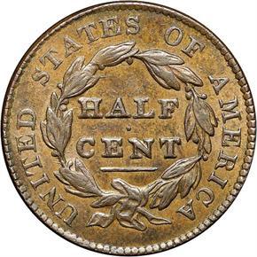 1826 1/2C MS reverse