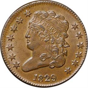 1829 C-1 1/2C MS obverse