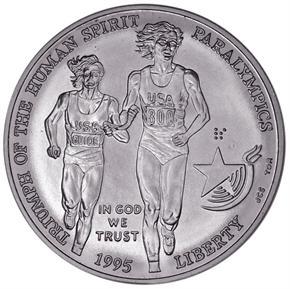1995 D OLYMPICS PARALYMPICS S$1 MS obverse