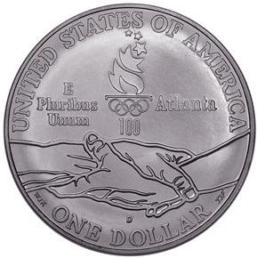 1995 D OLYMPICS PARALYMPICS S$1 MS reverse