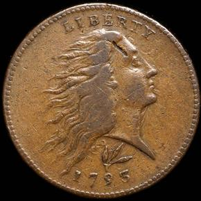 1793 WREATH LETTERED 1C MS obverse