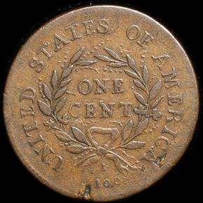 1793 WREATH LETTERED 1C MS reverse