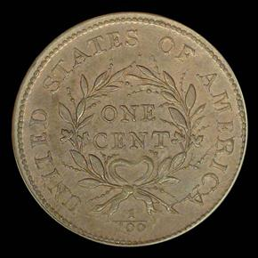 1793 WREATH VINE&BARS 1C MS reverse