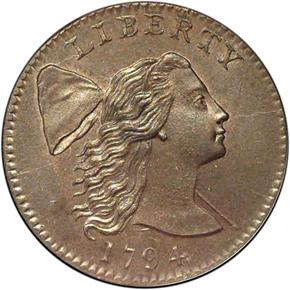 1794 HEAD OF 94 1C MS obverse