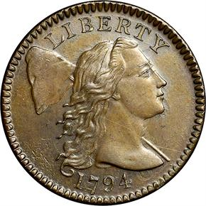 1794 HEAD OF 95 1C MS obverse