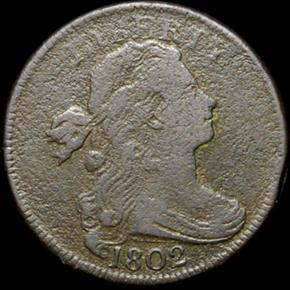 1802 NO STEMS 1C MS obverse