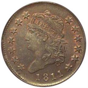 1811 S-287 1C MS obverse