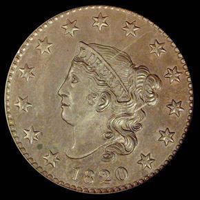 1820 1C MS obverse