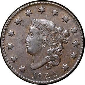1822 1C MS obverse