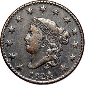 1824/2 1C MS obverse