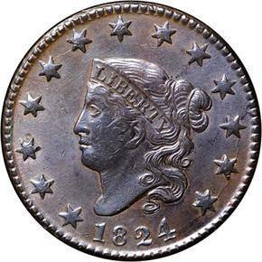 1824 1C MS obverse