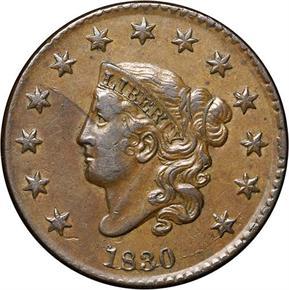 1830 1C MS obverse