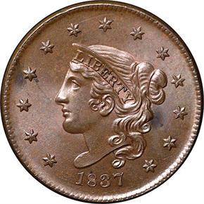 1837 1C MS obverse