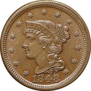 1848 1C MS obverse