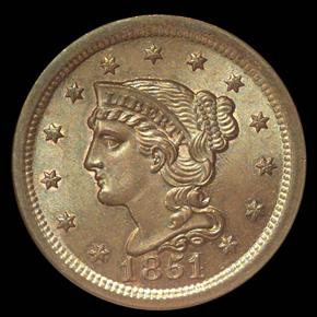 1851 1C MS obverse