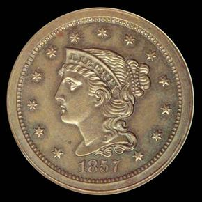 1857 LARGE 1C MS obverse