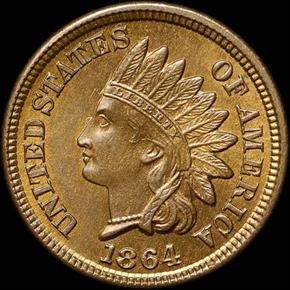 1864 BRONZE 1C MS obverse