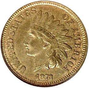1873 CLOSED 3 1C MS obverse
