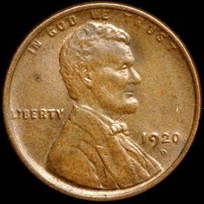 1920 D 1C MS obverse