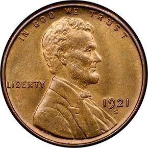 1921 S 1C MS obverse