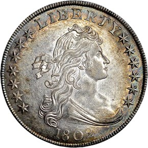 1802 S$1 MS obverse