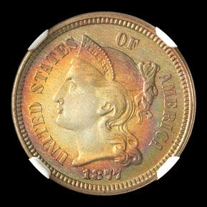 1877 3CN PF obverse