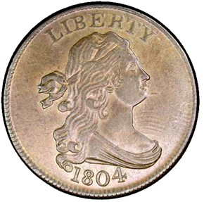 1804 SPIKED CHIN 1/2C MS obverse